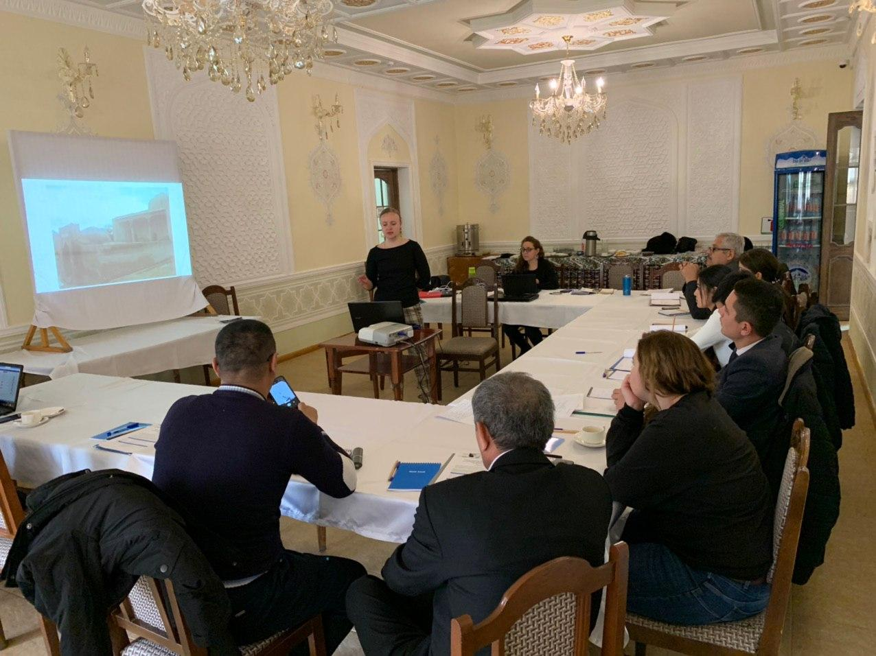 Training for the assessment of the state of conservation of historical buildings.
